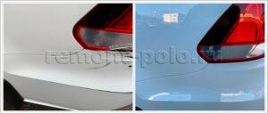 Ремонт бампера и крыла VW Polo с покраской