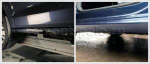 Замена и покраска левого порога VW Polo седан