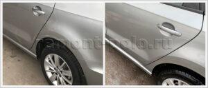 Устранение дефектов кузова VW Polo с покраской деталей