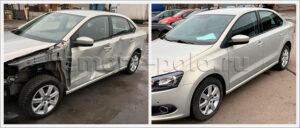 Ремонт и замена деталей кузова VW Polo седан
