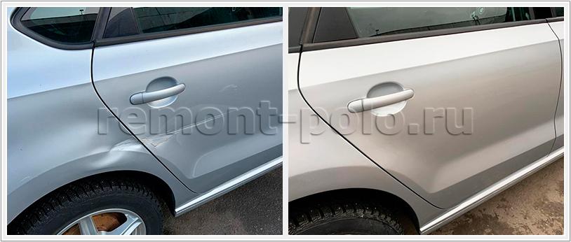Ремонт и абразивная полировка кузова Поло седан