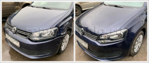 Ремонт и абразивная полировка кузова VW Polo седан