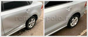 Ремонт кузова VW Polo с работами на стапеле