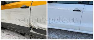 Ремонт кузова Поло с заменой двери